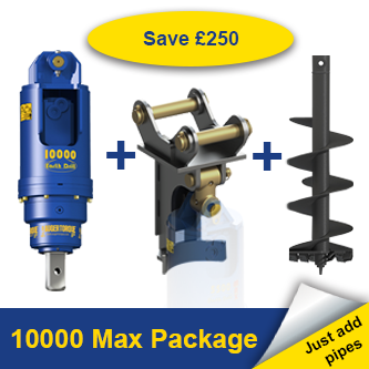 Auger Torque 10000 Max Earth Drill Package 8-15 Tonne