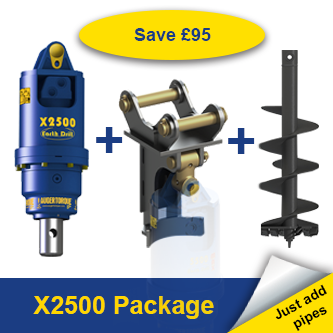 Auger Torque X2500 Earth Drill Package 1.5-3 Tonne